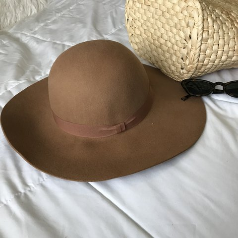 748967935e7 Brown felt wide brim circle floppy hat✨ brand new with tags. - Depop