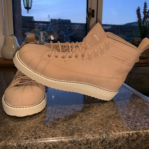 sale retailer af88a 87136  collexx. 22 days ago. Livingston, United Kingdom. ✨ Adidas Originals  Superstar Boot Luxe Trainers pink nude ✨