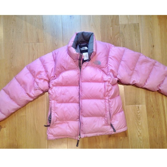 Light pink north face puffer jacket size S  P Women s really - Depop c036dc61d