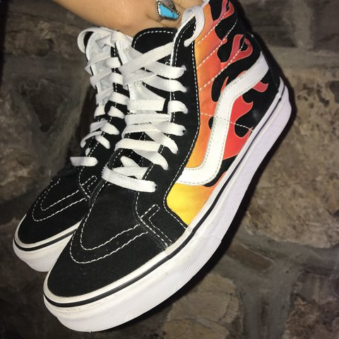 Old Skool Are Depop High Did These Top Flame hehe Fire Vans You aarwYd