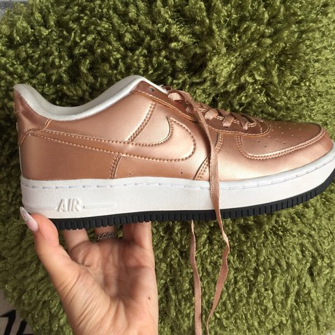 1f1dd1fa51 @abigailchown. 6 months ago. Leicester, United Kingdom. Nike Air Force 1  rose gold trainers. Only worn twice ...