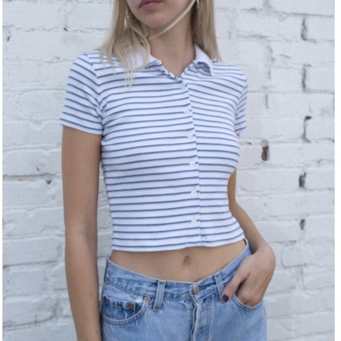 29b2d11987 Brandy Melville Striped Caroline Top Brand new with tags of - Depop