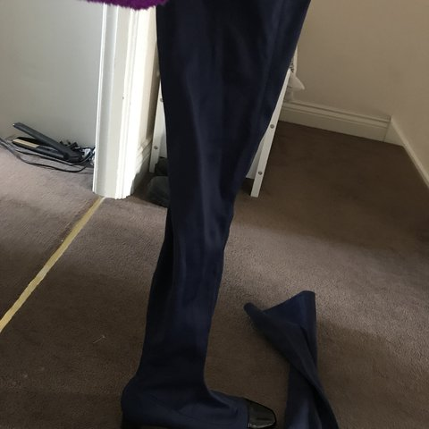 044653666d6 Beautiful brand new Zara over knee boots. Navy in colour - Depop