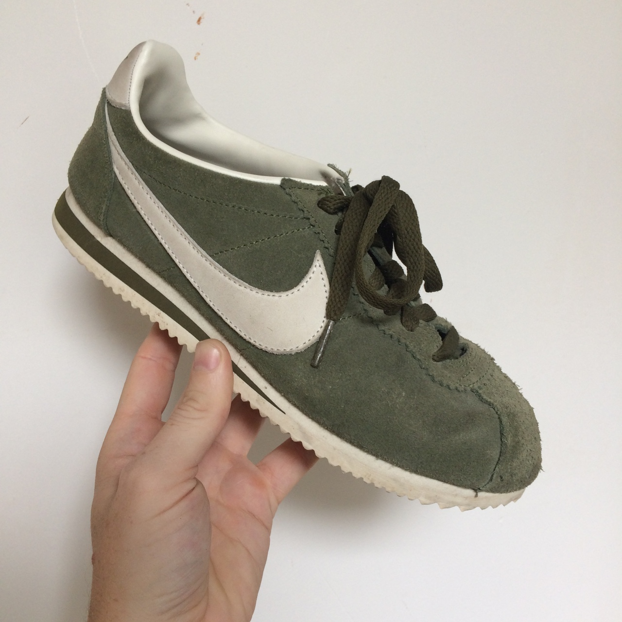 check out c0975 5326d Nike Cortez. Olive green size 6. Good condition.... - Depop
