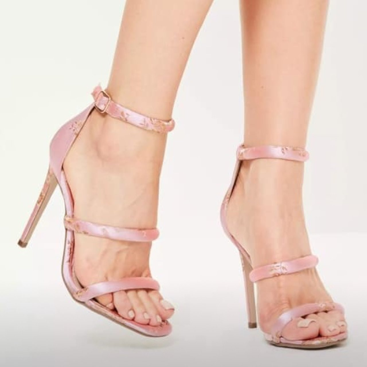fa34ad877 Missguided Pink Embroidered Satin Barely