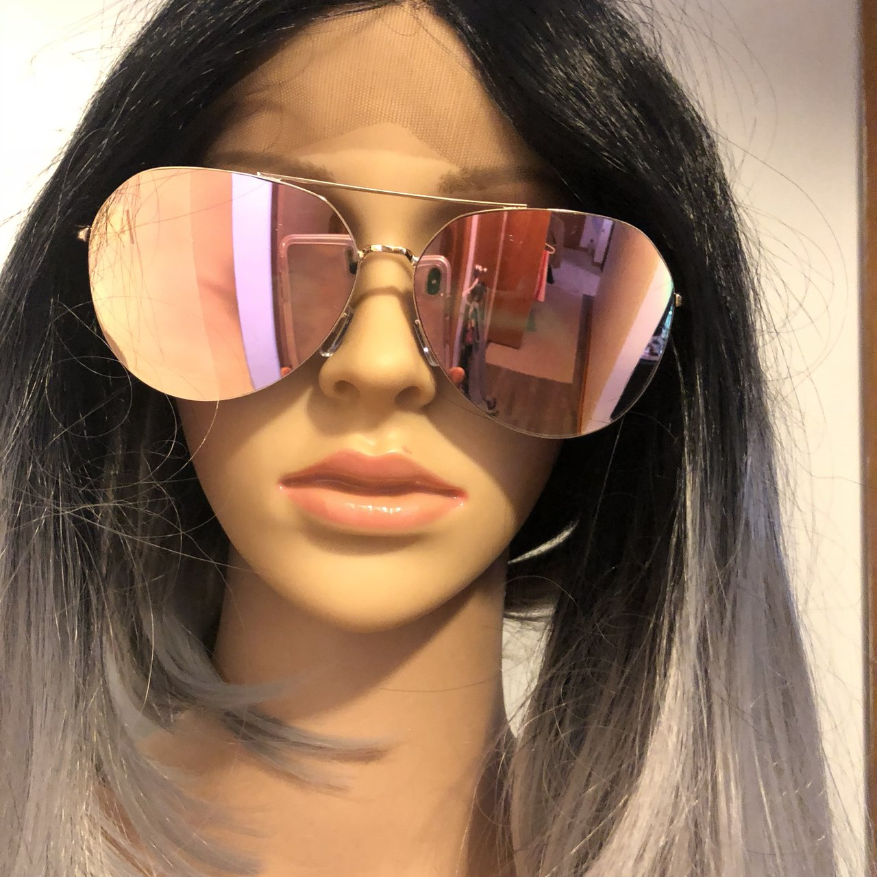 0f5475f669 Oversized pink mirrored sunglasses. New without tags. No - Depop