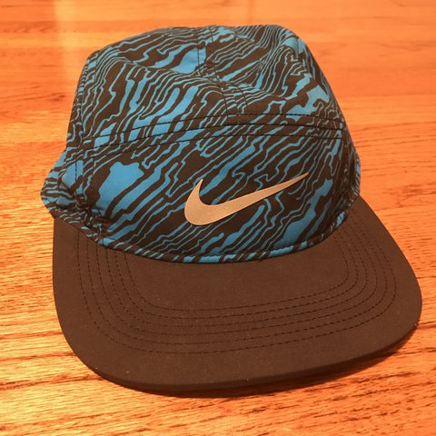 68d393279462d Nike dri-fit camp hat. 5 panel Nike banger. Like new.   HAS - Depop