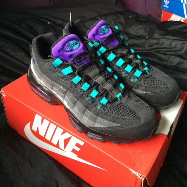 on sale d757b c1b82 Nike air max 95 black grape UK9. Worn once for about ...