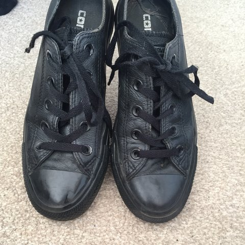 6619e7ee7f2 5 months ago. purley united kingdom. black leather converse size 4
