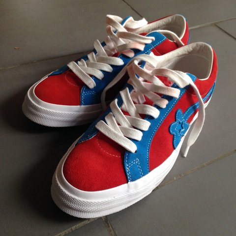 152f721b96ee Golf le Fleur converse - red and blue two tone - size 10