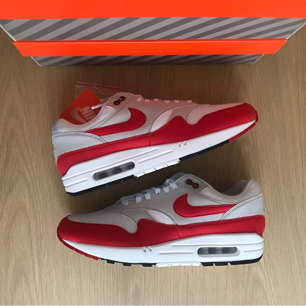 Nike air max 1 anniversary OG red Condition : Deadstock Depop