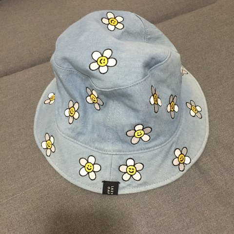 eaf00438a300f Lazy oaf denim daisy bucket hat! Never worn outside.. in new - Depop