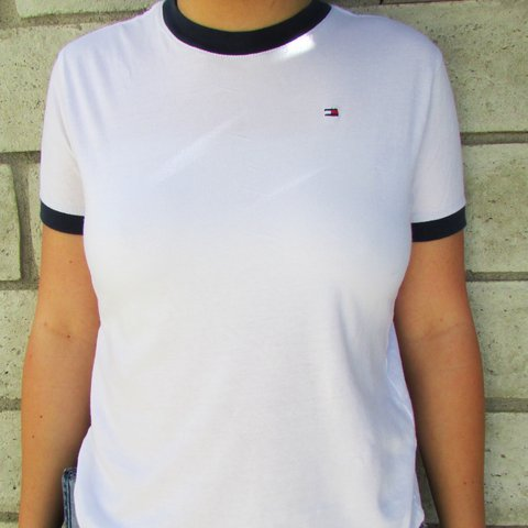 20e28633b  nainaik. 25 days ago. United States. ⚠️MAJOR PRICE DROP  sale  clearance. Tommy  Hilfiger white T-shirt ...
