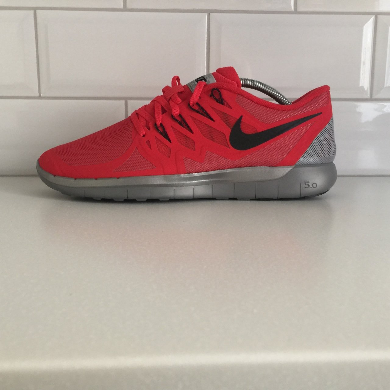 sports shoes d8a23 de9e7  gregworsley16. 2 years ago. Sheffield, South Yorkshire, UK. Nike Free Run  5.0 Red Reflective Silver ...
