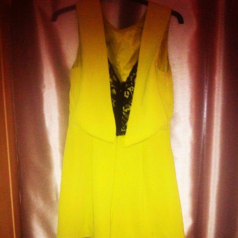 84b2382b2f Lime green yellow playsuit from topshop. Size 10 but would a - Depop