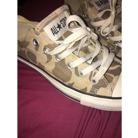 dd2b14231d8f8 Camo print converse size 7 basically new, in perfect only ! - Depop