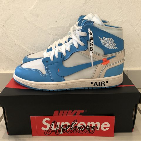 abedfbd8d48f JUST LOOKING FOR OFFERS  OFF WHITE X NIKE AIR JORDAN 1 UK8 - Depop