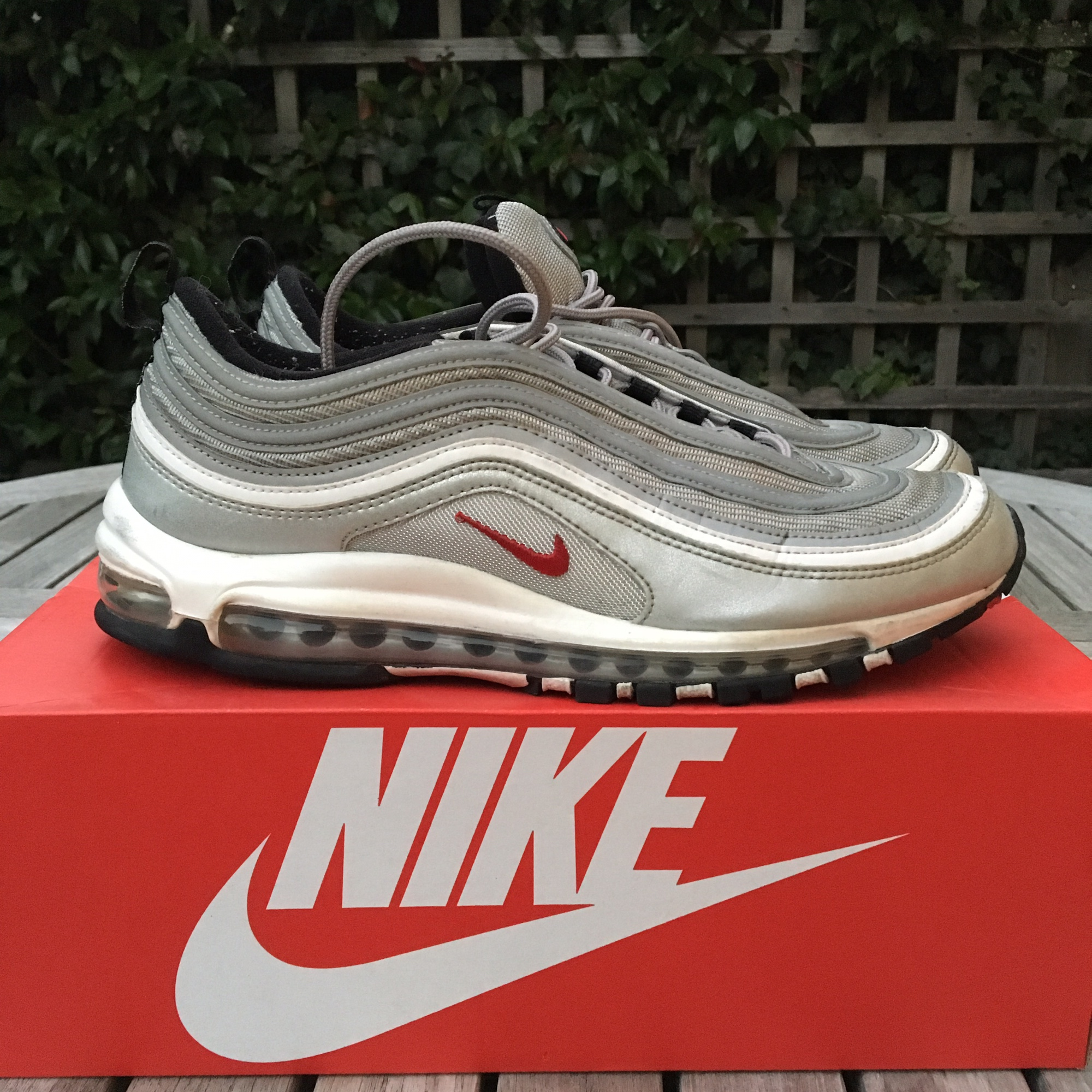 official photos fef37 52a79 Nike Air Max 97 OG QS Silver Bullet UK... - Depop