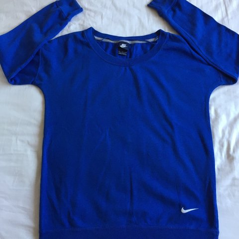 Nike Sweatshirt   Jumper - Blue colour. White Nike tick logo - Depop ac267ee2d
