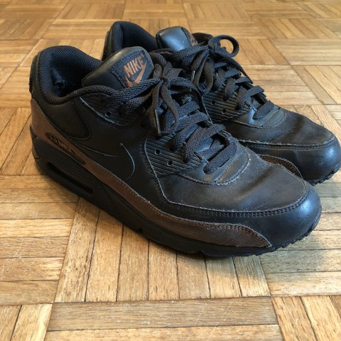 f998217f6e462 Nike Air Max 90 Leather sneakers Black rustic color Men s - Depop