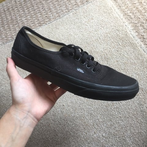 deb9a928416c Vans authentic all black trainers Perfect condition never - Depop