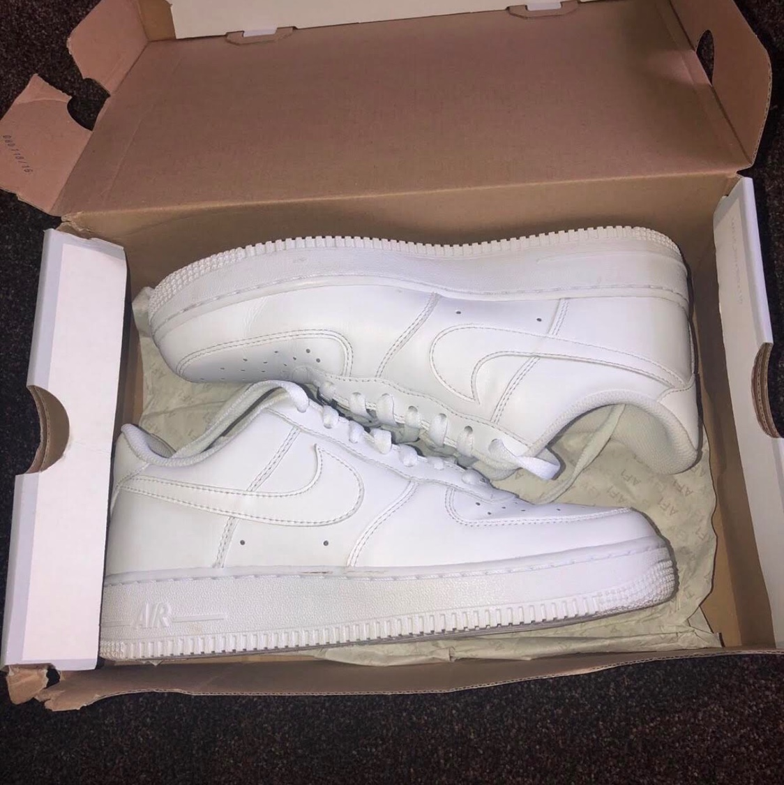 Women S Nike Air Force 1 07 Size 6 White Only Depop
