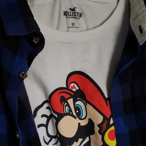 790b2f4cdf2a6 Mario Tee Hollister Exclusives Size XS fits S or M Extra in - Depop