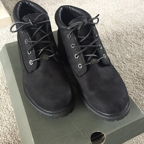 Size 7 black timberland boots. Great condition, only Depop