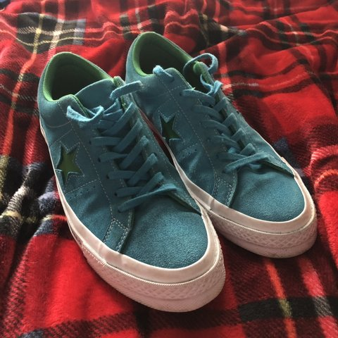 Selling Converse One Star UK Size 9 Hawaiian Ocean Jolly a - Depop f51e48b6a