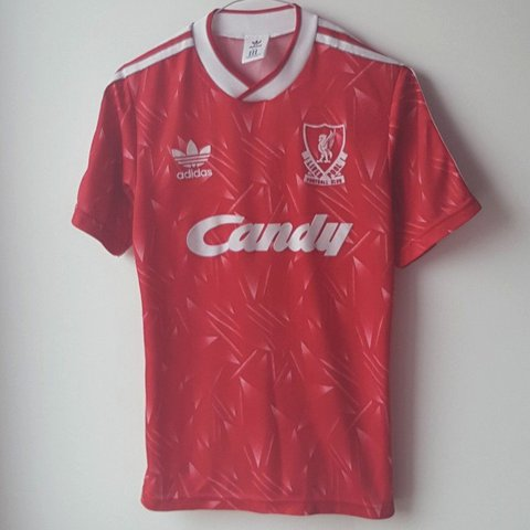 dcfdb539a55 SOLD on eBay Vintage Adidas Liverpool Football Club 1989 is - Depop