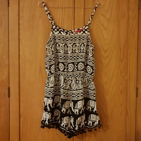 382ce20ae Boohoo playsuit with cute black   white elephant design. 10