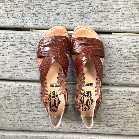ea8b91c8b72fa2 Authentic Mexican Sandals (Huaraches) Dark brown Never 6 4 - Depop
