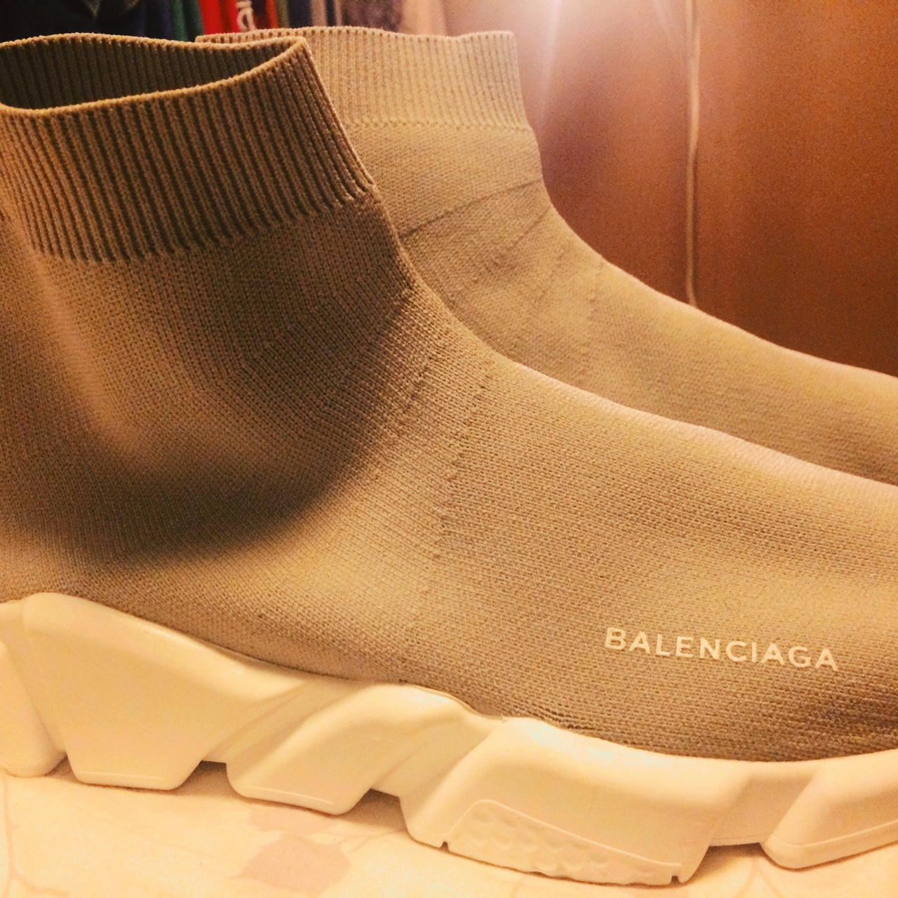 the sale of shoes best authentic superior quality cybermonday Balenciaga Speed Trainer Originally... - Depop