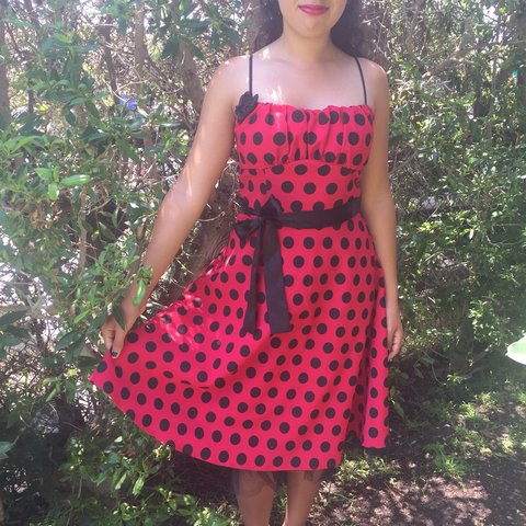 f9b4284b1b0 Black and red pinup retro dress. This dress is in really a - Depop