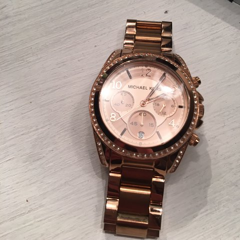 d21f88d881ff Micheal Kors rose gold women s watch. WITH BOX Model - for I - Depop