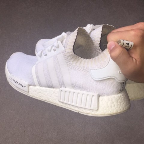 f689f70a9 Adidas Nmd R1 PK Japan pack Triple white Used condition - Depop