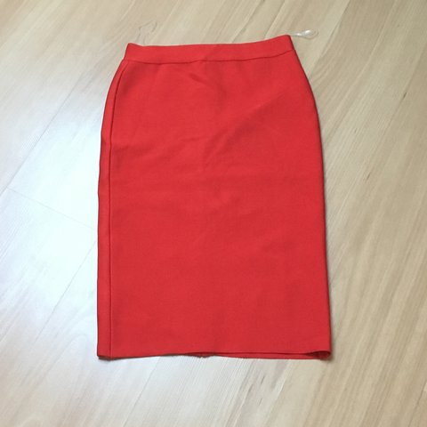 fc8adc16ae4 Thick High waist knee length red bandage skirt. would fit a - Depop
