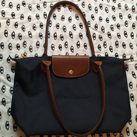 9ab36938ec4 Perfect Condition Medium Navy Longchamp tote. Original price - Depop