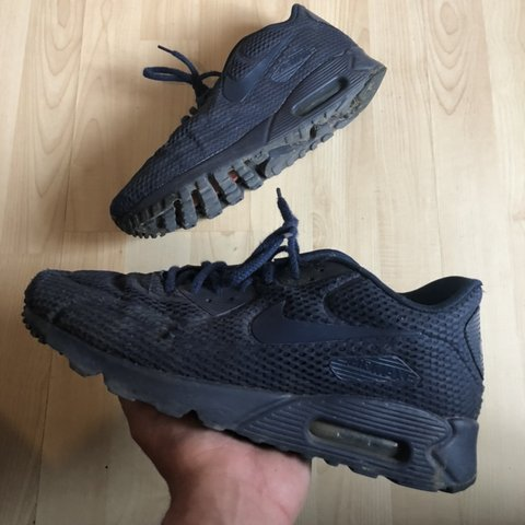 4af30ad0eeab Nike Air Max 90 Ultra Breathe Navy Blue Condition - 6 10 To - Depop
