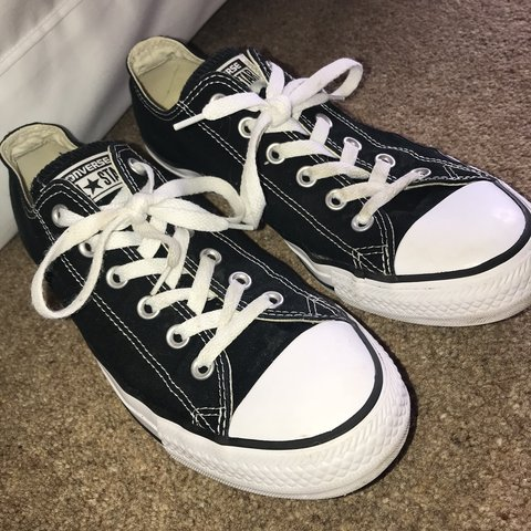 fa594f8d18fece Converse all star low black converse. Hardly worn still look - Depop