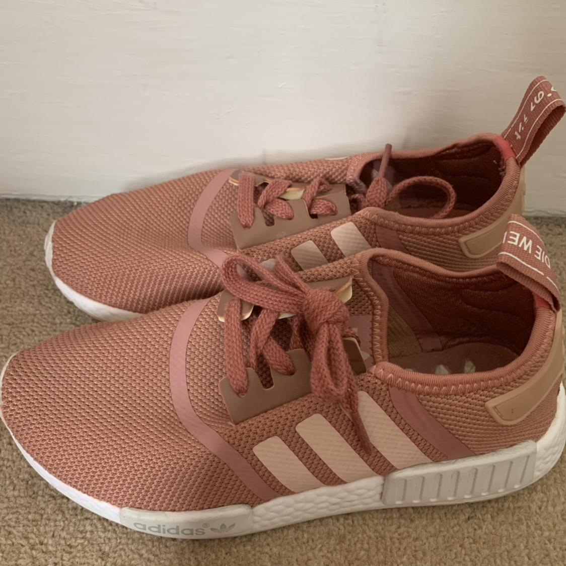 online store 9b3d2 e2cbb Adidas NMDs pink size 6, hardly... - Depop