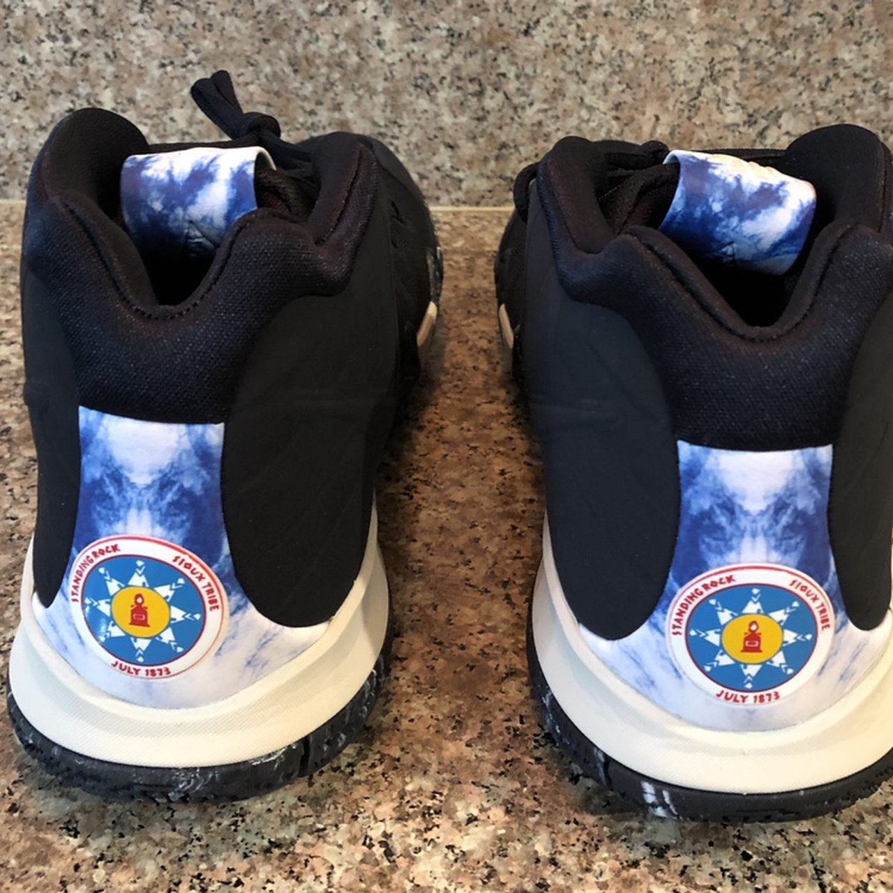 b51cba9bc3e3 New With Box Nike Kyrie 4 N7 Standing Rock Sioux Men s Size - Depop