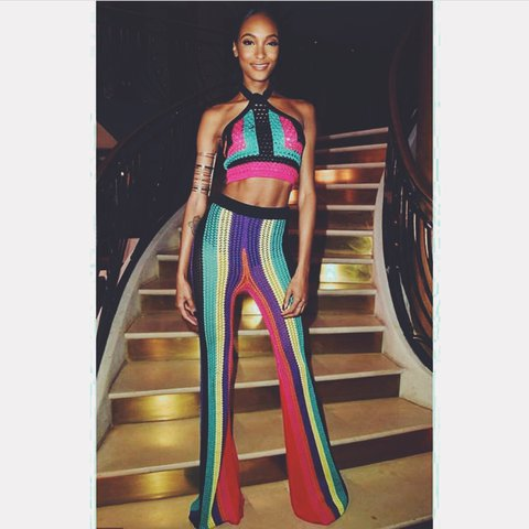 d3b39062cfb918 Sold out Balmain two piece - high waist trousers are insane