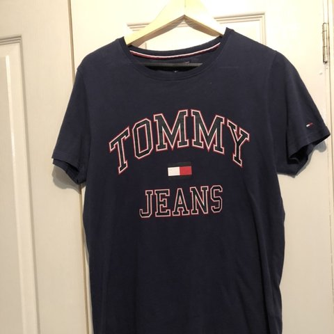 2ce0d2755e3341 @nickjoyce9. in 13 hours. Welshpool, United Kingdom. Tommy Hilfiger Navy T  shirt. Tommy Jeans Supreme condition.