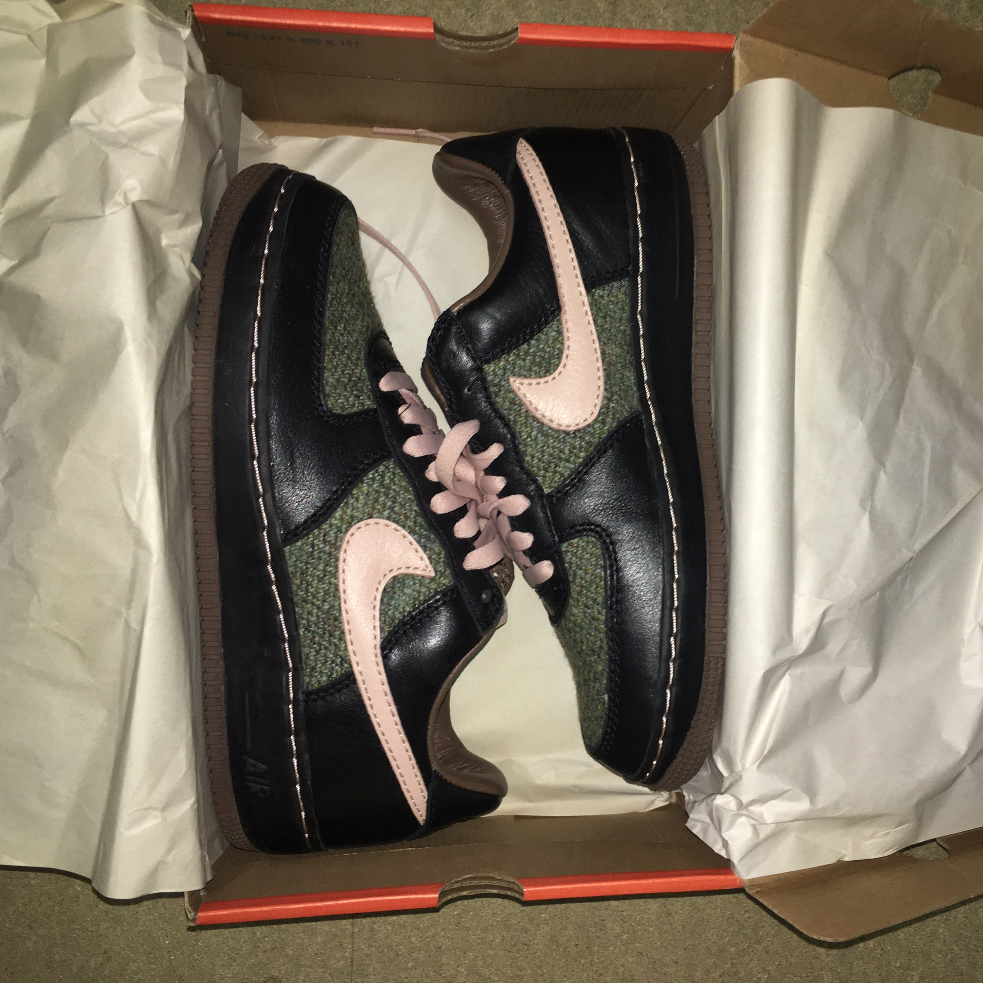 big discount fashion styles closer at Nike Air Force 1 low x Harris tweed Shoes need a... - Depop
