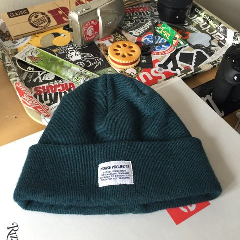 ae7cd593bf5 Norse Projects Merino Top Beanie - Brand New Unworn    one - Depop
