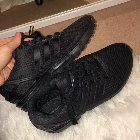 ae955b2e88a82 Adidas black zx flux trainers! Size 5! Amazing condition