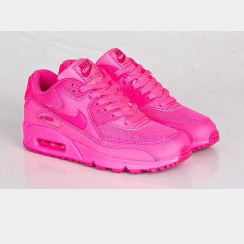 ed7095846d43 Bright pink Nike air max. Worn a couple of times More for me - Depop