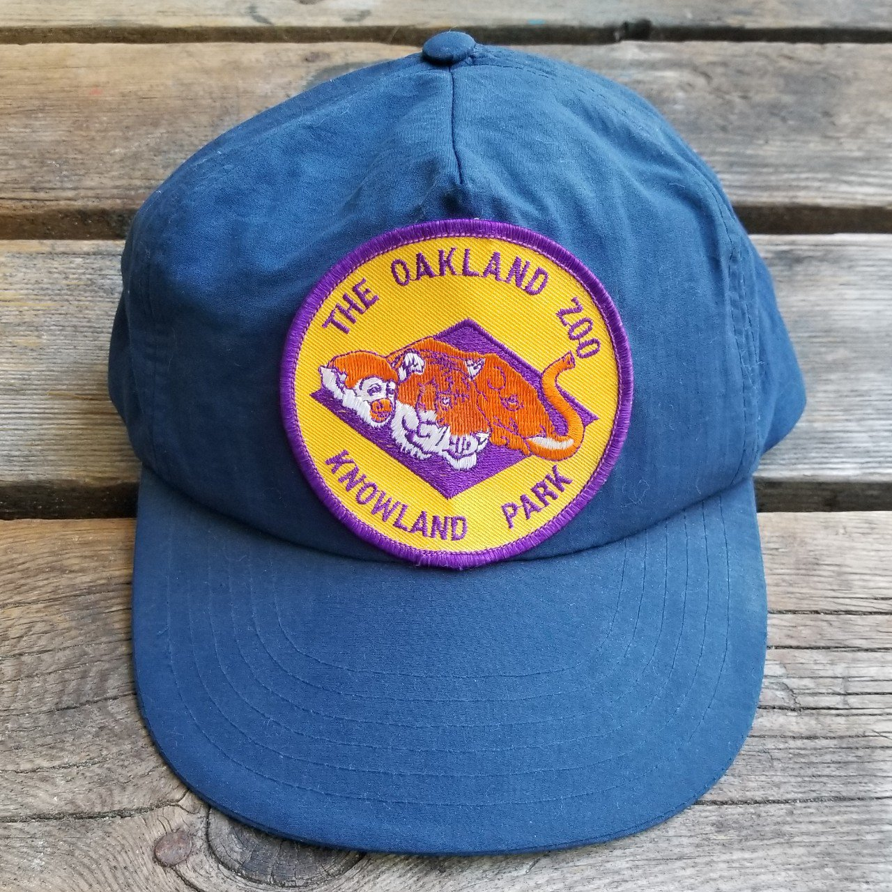 e76c57d7791 Vintage 1990 s Oakland Zoo waterproof nylon snapback is free - Depop