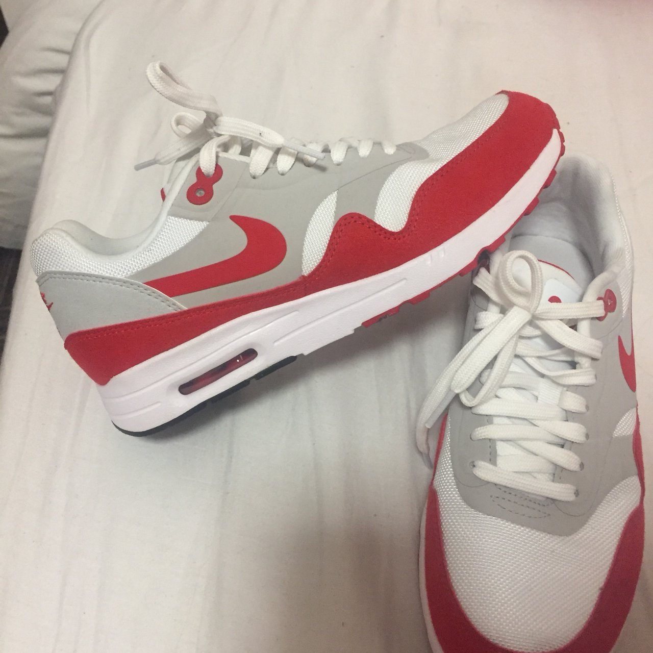 e614fb30cd22a6 Nike air max 3.26 size 5 red and white brand new worn to - Depop